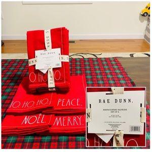 Rae Dunn Red Christmas Napkin Set